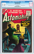 Golden Age (1938-1955):Science Fiction, Astonishing #44 (Atlas, 1955) CGC FN/VF 7.0 Cream to off-whitepages....