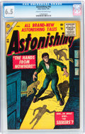 Silver Age (1956-1969):Horror, Astonishing #45 (Atlas, 1956) CGC FN+ 6.5 Cream to off-whitepages....
