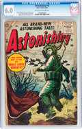 Golden Age (1938-1955):Science Fiction, Astonishing #46 (Atlas, 1956) CGC FN 6.0 Off-white to whitepages....