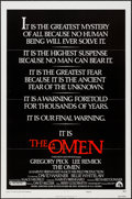 """Movie Posters:Horror, The Omen & Other Lot (20th Century Fox, 1976). One Sheets (2) (27"""" X 41"""") Style E. Horror.. ... (Total: 2 Items)"""