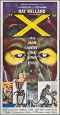 "Movie Posters:Science Fiction, X - The Man with the X-Ray Eyes (American International, 1963).Autographed Three Sheet (41"" X 79""). Science Fiction.. ..."