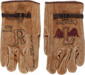 Movie/TV Memorabilia:Original Art, A Von Dutch Pair of Hand-Illustrated Work Gloves, Circa 1970s....