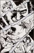 Original Comic Art:Covers, Klaus Jansson The Wolverine Saga #3 Back Cover Original Art(Marvel, 1989)....