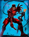Original Comic Art:Paintings, Simon Bisley - Daredevil and Black Widow Painting Original Art (undated)....