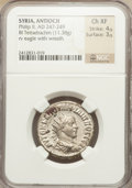 Ancients:Roman Provincial , Ancients: SYRIA. Philip II (AD 247-249). BIL tetradrachm (11.38gm)....