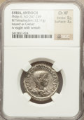 Ancients:Roman Provincial , Ancients: SYRIA. Philip II as Caesar (AD 244-247). BIL tetradrachm(12.11 gm)....