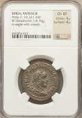 Ancients:Roman Provincial , Ancients: SYRIA. Philip II (AD 247-249). BIL tetradrachm (14.76gm)....