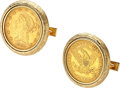 Estate Jewelry:Cufflinks, Gold Coin Cuff Links. ...