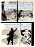 "Original Comic Art:Panel Pages, George Evans Terror Illustrated ""Reflection of Death"" StoryPage Original Art Group (EC, 1956).... (Total: 5 Original Art)"
