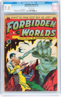 Golden Age (1938-1955):Science Fiction, Forbidden Worlds #1 (ACG, 1951) CGC FN/VF 7.0 Off-white pages....
