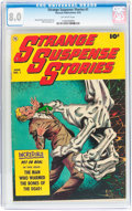 Golden Age (1938-1955):Horror, Strange Suspense Stories #1 (Fawcett Publications, 1952) CGC VF 8.0Off-white pages....