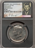 Kennedy Half Dollars, 2014-P 50C High Relief, Clad, 50th Anniversary, First Releases SP68NGC. PCGS Population (350/135)....