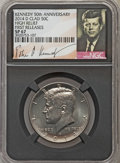Kennedy Half Dollars, 2014-D 50C High Relief, Clad, 50th Anniversary, First Releases SP67NGC. PCGS Population (350/135)....