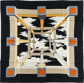 "Luxury Accessories:Accessories, Hermes 90cm Black ""Perspective,"" by A.M. Cassandre Silk Scarf.Excellent Condition. 36"" Width x 36"" Length. ..."