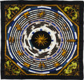 "Luxury Accessories:Accessories, Hermes 90cm Black ""Astrologie,"" by Françoise Façonnet Silk Scarf.Excellent Condition. 36"" Width x 36"" Length. ..."