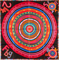 "Luxury Accessories:Accessories, Hermes 90cm Black ""Tohu Bohu,"" by Claudia Mayr Silk Scarf. Pristine Condition. 36"" Width x 36"" Length. ..."