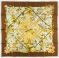 """Luxury Accessories:Accessories, Hermes 90cm Green """"Serenite,"""" by Zoe Pauwels Silk Scarf.Pristine Condition. 36"""" Width x 36"""" Length. ..."""