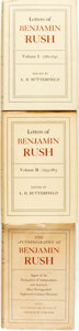 Books:Americana & American History, [American Revolution]. [Benjamin Rush]. L.H. Butterfield, editor.The Letters of Benjamin Rush, Vols. I & II.... (Total: 3Items)