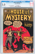 Golden Age (1938-1955):Horror, House of Mystery #3 (DC, 1952) CGC VG/FN 5.0 Off-white to whitepages....