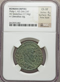 Ancients:Roman Imperial, Ancients: Philip I (AD 244-249). AE sestertius (17.34 gm)....