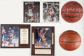 Basketball Collectibles:Others, Basketball Greats Signed and Unsigned Memorabilia Lot of 6....