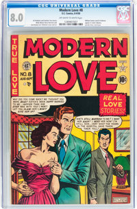 Modern Love #8 (EC, 1950) CGC VF 8.0 Off-white to white pages