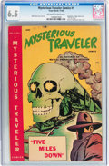 Golden Age (1938-1955):Horror, Mysterious Traveler Comics #1 (Trans World, 1948) CGC FN+ 6.5Off-white to white pages....