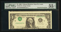 Error Notes:Inverted Third Printings, Fr. 1914-H $1 1988 Federal Reserve Note. PMG About Uncirculated 55EPQ.. ...
