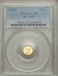 California Fractional Gold: , 1864 50C Liberty Round 50 Cents, BG-1015, R.7, AU55 PCGS. PCGSPopulation (1/5). ...
