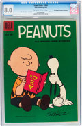 Silver Age (1956-1969):Humor, Four Color #969 Peanuts - Don/Maggie Thompson Collection pedigree (Dell, 1959) CGC VF 8.0 Off-white to white pages....