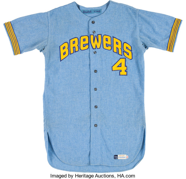 1c1e5269fc5 ... Baseball Collectibles:Uniforms, 1971 Dave Bristol Game Worn Milwaukee  Brewers Jersey - The FirstManager ...