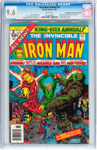 Iron Man Annual #3 Don/Maggie Thompson Collection pedigree (Marvel, 1976) CGC NM+ 9.6 White pages