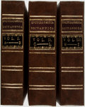 Books:Reference & Bibliography, Encyclopædia Britannica; or, a Dictionary of Arts and Sciences,Compiled Upon a New Plan, et al, Vols. I - III. [Lon... (Total:3 Items)