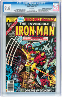 Iron Man Annual #4 Don/Maggie Thompson Collection pedigree (Marvel, 1977) CGC NM+ 9.6 White pages
