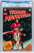 Golden Age (1938-1955):Science Fiction, Strange Adventures #9 (DC, 1951) CGC VF- 7.5 Off-white to whitepages....