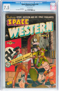 Golden Age (1938-1955):Science Fiction, Space Western #44 (Charlton, 1953) CGC VF- 7.5 White pages....