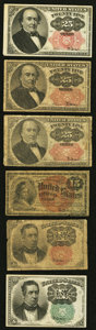 Fractional Currency:Fifth Issue, Fourth and Fifth Issue Fractional Notes.. ... (Total: 6 notes)