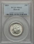 Coins of Hawaii, 1883 25C Hawaii Quarter MS63 PCGS....