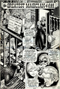 """Original Comic Art:Complete Story, Bill Everett Fear #9 """"Greatest Magician of All"""" Complete 7Page Story Original Art (Marvel, 1972).... (Total: 7 Original Art)"""