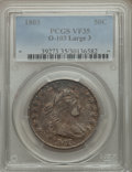 Early Half Dollars, 1803 50C Large 3, Large Reverse Stars, O-103, R.3, VF35 PCGS....