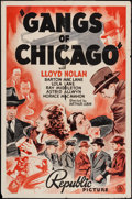 """Movie Posters:Crime, Gangs Of Chicago (Republic, 1940). One Sheet (27"""" X 41""""). Crime....."""