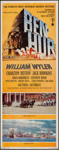 "Movie Posters:Academy Award Winners, Ben-Hur (MGM, R-1969). Insert (14"" X 36""). Academy Award Winners.. ..."
