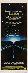 "Movie Posters:Science Fiction, Close Encounters of the Third Kind (Columbia, 1977). Insert (14"" X36""). Science Fiction.. ..."
