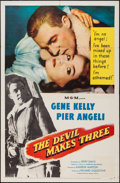 """Movie Posters:Thriller, The Devil Makes Three (MGM, 1952). One Sheet (27"""" X 41""""). Thriller.. ..."""