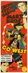 "Movie Posters:Comedy, Go West (MGM, 1940). Insert (14"" X 36"").. ..."