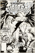 Original Comic Art:Covers, Eduardo Barreto The New Adventures of Superboy #54 CoverOriginal Art (DC, 1984)....