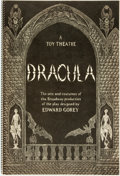 Books:Art & Architecture, [Edward Gorey]. Dracula. A Toy Theatre. The sets and costumes of the Broadway production of the play. New York: ...