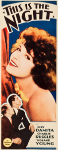 "Movie Posters:Comedy, This Is The Night (Paramount, 1932). Insert (14"" X 36"").. ..."