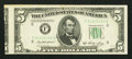 Error Notes:Miscellaneous Errors, Fr. 1962-F $5 1950A Federal Reserve Note. About Uncirculated.. ...