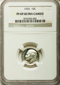 Proof Roosevelt Dimes, 1955 10C PR69 Ultra Cameo NGC....